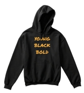 Young Black Bold Kids Hoodie - $30